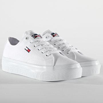 Tommy Hilfiger - Baskets Femme Platform Vulcanized 1371 White