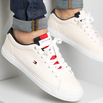 Tommy Hilfiger - Baskets Essential Chambray Vulcanized 3472 Ivory