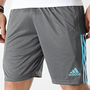 Adidas Performance - Short De Sport A Bandes Real Madrid GL0049 Gris