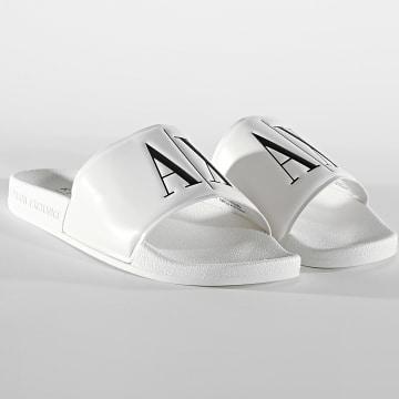 Armani Exchange - Claquettes XUP004-XV231 Blanc