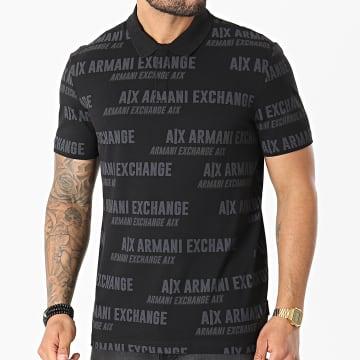 Armani Exchange - Polo Manches Courtes 3KZFAE-ZJ7YZ Noir