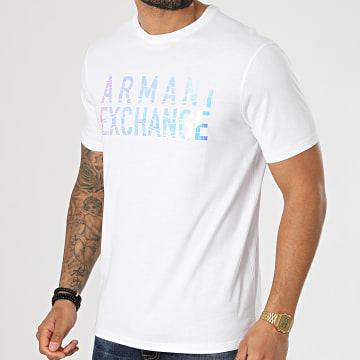 Armani Exchange - Tee Shirt 3KZTGF-ZJBVZ Blanc Iridescent