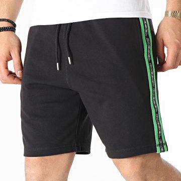 Diesel - Short Jogging A Bandes 00S148-0TAWI Noir Vert