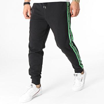 Diesel - Pantalon Jogging A Bandes 00ST1N-0TAWI Noir Vert