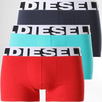 Diesel - Lot De 3 Boxers Shawn 00SAB2-0PAWE Bleu Rouge