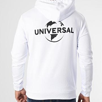 Universal Studio - Sweat Capuche Universal Logo Mono Back Blanc