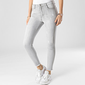 Girls Outfit - Jean Skinny Femme B877 Gris