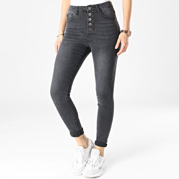 Girls Outfit - Jean Skinny Femme B905 Gris Anthracite