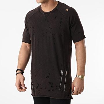 Ikao - Tee Shirt Poches Oversize LL403 Marron