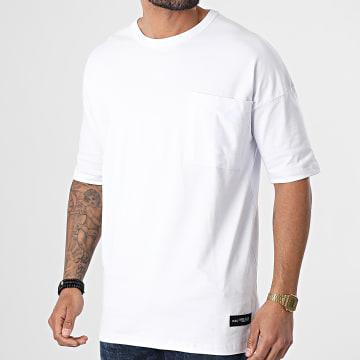 Ikao - Tee Shirt Poche Oversize LL420 Blanc