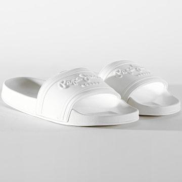 Pepe Jeans - Claquettes Femme Slider PLS70081 Blanc
