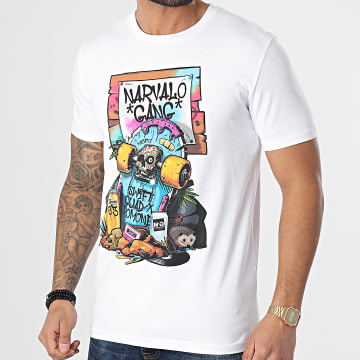 Swift Guad - Tee Shirt Narvalo Skate Blanc