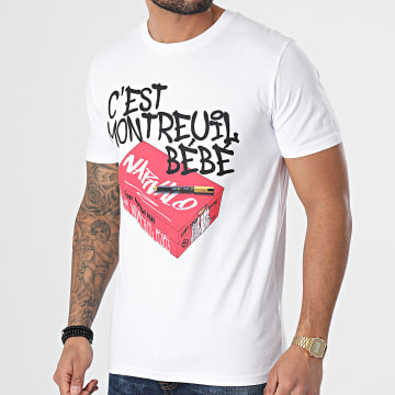 Swift Guad - Tee Shirt Narvalo Montreuil Blanc