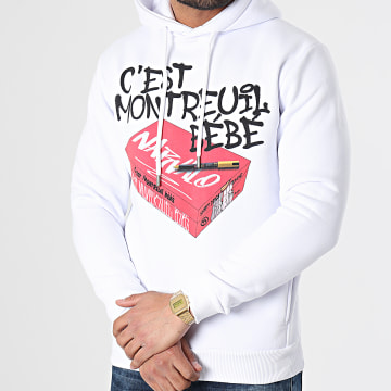 Swift Guad - Sweat Capuche Narvalo Montreuil Blanc
