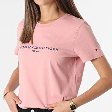 Tommy Hilfiger - Tee Shirt Femme Essential Hilfiger 8681 Rose