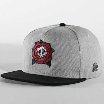Cayler And Sons - Casquette Snapback Death Rose CS1083 Gris Chiné