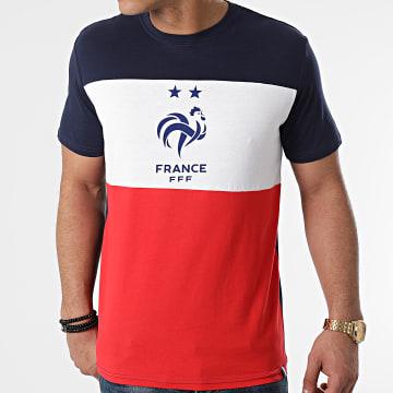 FFF - Tee Shirt Tricolore F20080 Bleu Marine