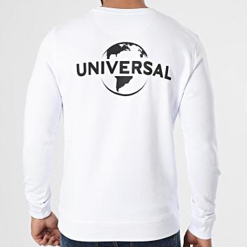 Universal Studio - Sweat Crewneck Universal Logo Mono Back Blanc