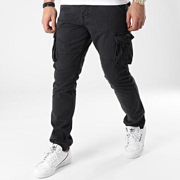 Indicode Jeans - Pantalon Cargo William Noir