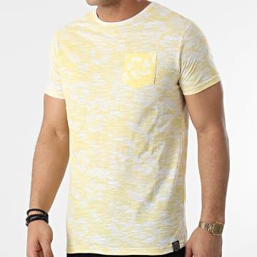 La Maison Blaggio - Tee Shirt Poche Merced Jaune Blanc Floral