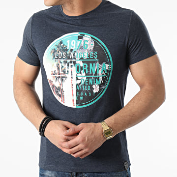 La Maison Blaggio - Tee Shirt Miami Bleu Marine Chiné