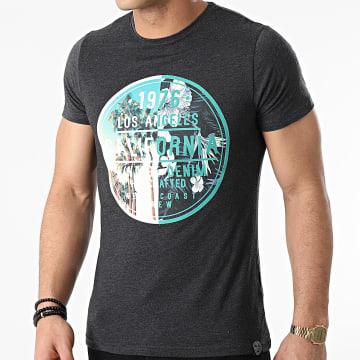 La Maison Blaggio - Tee Shirt Miami Gris Anthracite Chiné