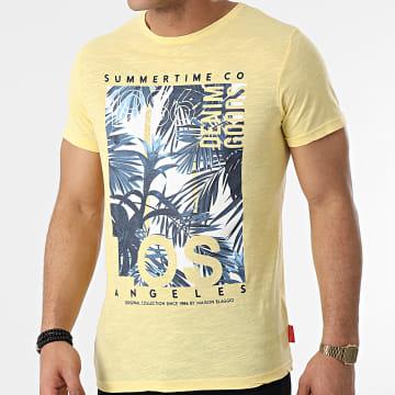 La Maison Blaggio - Tee Shirt Mariscal Jaune Chiné Floral