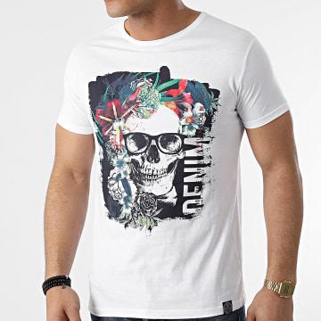 La Maison Blaggio - Tee Shirt Mundi Blanc Floral