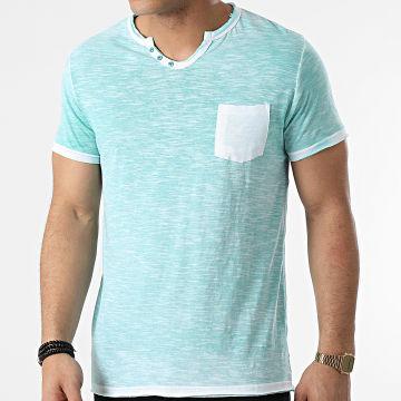 La Maison Blaggio - Tee Shirt Poche Mc Allen Vert Chiné
