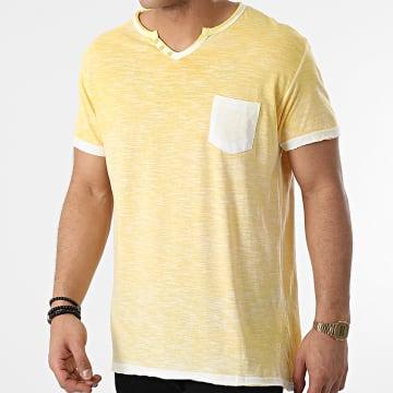 La Maison Blaggio - Tee Shirt Poche Mc Allen Jaune Chiné