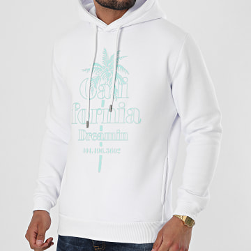 Luxury Lovers - Sweat Capuche California Dreamin Blanc Vert