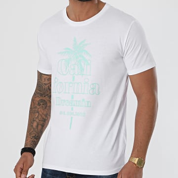 Luxury Lovers - Tee Shirt California Dreamin Blanc Vert