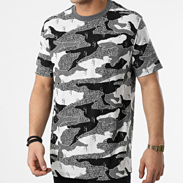 Sixth June - Tee Shirt M22186ETS Blanc Noir Camouflage