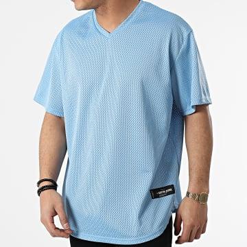 Sixth June - Tee Shirt Oversize Col V M4191VTS Bleu Clair