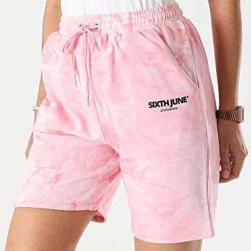 Sixth June - Short Jogging Femme W32805KST Rose