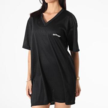Sixth June - Robe Tee Shirt Femme W4293VDR Noir