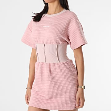 Sixth June - Robe Femme Manches Courtes W33073VDR Rose