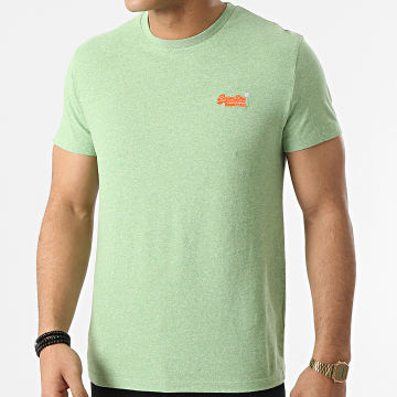 Superdry - Tee Shirt OL Vintage Embroidery M1010119A Vert Chiné