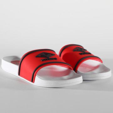 Umbro - Claquettes Kocak Net 852450 Blanc Rouge
