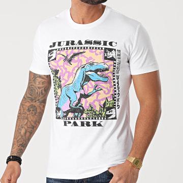 Jurassic Park - Tee Shirt Jurassic Park Pellicule Blanc