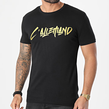 L'Allemand - Tee Shirt Typo Noir Or