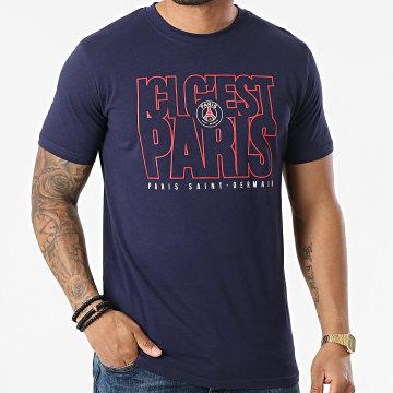 PSG - Tee Shirt Ici C'est Paris P13965C Bleu Marine