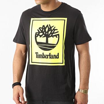 Timberland - Tee Shirt Stack Logo A2AJ1 Noir Jaune Fluo