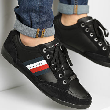 Tommy Hilfiger - Baskets Material Material Mix Cupsole 2989 Black