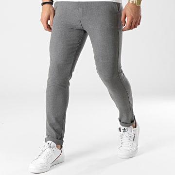 Uniplay - Pantalon Chino 12 Gris Chiné