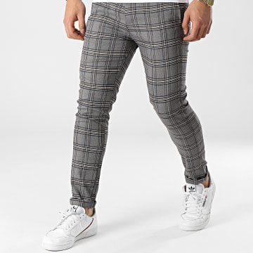 Uniplay - Pantalon A Carreaux 12 Gris Chiné