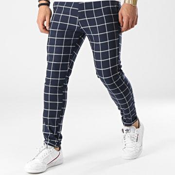 Uniplay - Pantalon A Carreaux 12 Bleu Marine