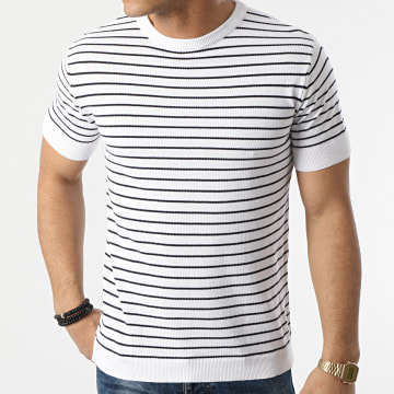 Armita - Tee Shirt A Rayures AVP-156 Blanc