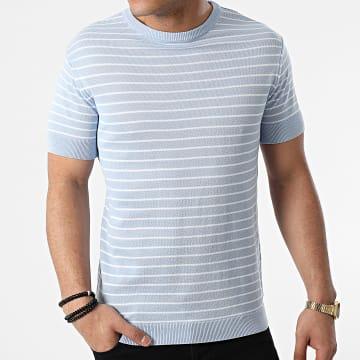 Armita - Tee Shirt A Rayures AVP-156 Bleu Ciel