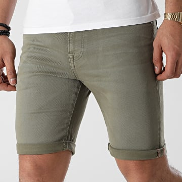 Jack And Jones - Short Jean Rick Icon Vert Kaki